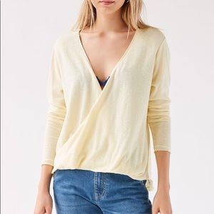 Urban Outfitters Callie Draped Surplice Top XS